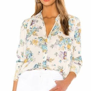 Free People Hold On To Me Floral Top size L